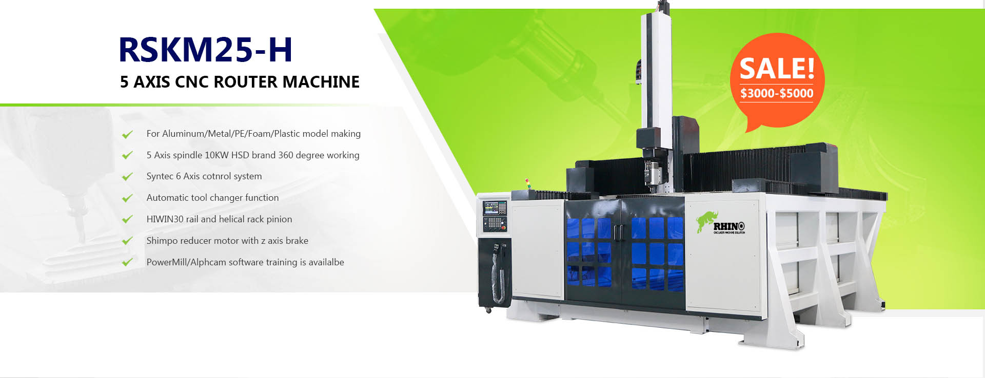 5 Axis ATC CNC Router for Sale
