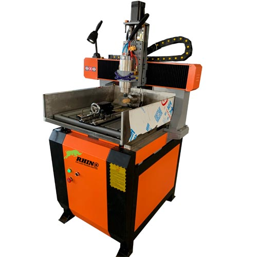 Rotary 4 Axis Metal CNC Router Machine for Molds Making